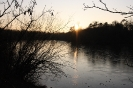 Ein See am Abend
