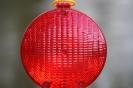 Baustellenlampe in Rot
