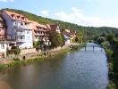 Die Tauber ( Fluß ) in Wertheim