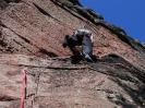 Klettern am Abhang