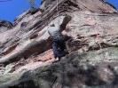 Kletterer in der Felswand