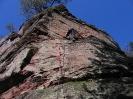 Klettern in der Felswand