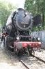 Einer alten Dampflok von vorne