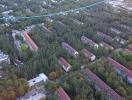 Luftbild von der Waldstadt in Karlsruhe