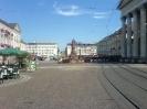 Der Marktplatz von Karlsruhe